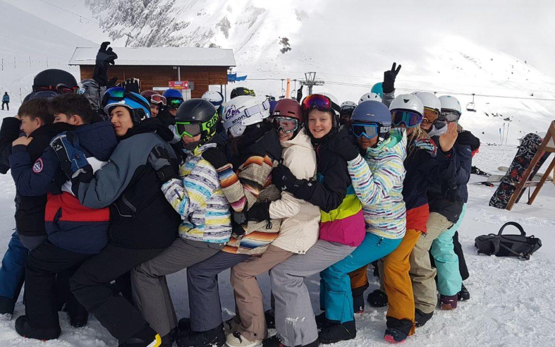 Action überall im Schulhaus und im Schnee